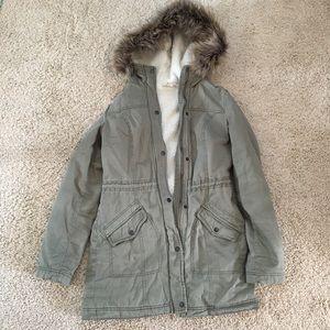 Hollister zip trench coat jacket